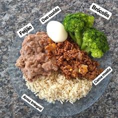 A imagem pode conter: comida Healthy Meal Prep, Healthy Dinner Recipes, Diet Recipes, Healthy Eating, Diy Food, Food N, Healthy Lifestyle, Clean Eating, Good Food