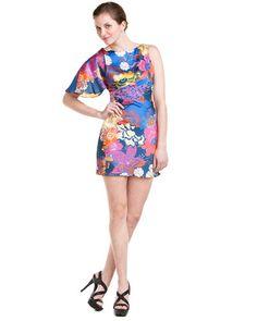 Super cute! A.B.S. Fuchsia Flutter Sleeve Short Dress. $79.90