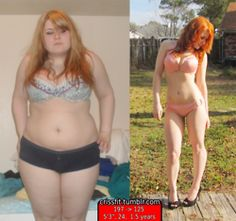 before and after weight loss photos - totally inspirational no one should say they cant get what they want!