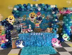 "Baby Shark / Birthday ""Aria's Baby Shark First Birthday Party"" Boys First Birthday Party Ideas, Birthday Themes For Boys, Baby Boy 1st Birthday, Boy Birthday Parties, Shark Birthday Cakes, Shark Party Decorations, Happy Birthday Wishes Cards, Baby Shark, Instagram"