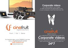 #corporatevideos  #establish #your  #company #image  contact #CINEFRUIT for #best_services