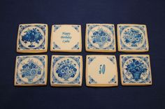 Delft Blue Tile Cookies by Nadia Bakes, via Flickr