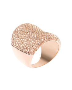 Michael Kors Concave Pave Ring, Rose Golden