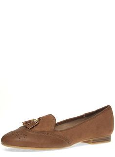 Tan 'Link' Loafers