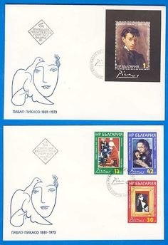 Bulgaria FDC Envelope Stamp Famous Spanish Artist Painter Sculptor Pablo Picasso | eBay