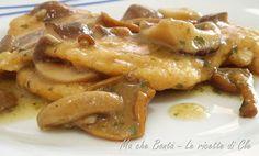 Cotolette di pollo con salsa ai funghi