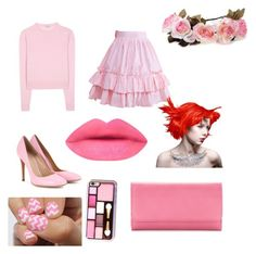 """Ariel out of water"" by princess-rainbow on Polyvore featuring Miu Miu, Gianvito Rossi, Croft & Barrow and Manic Panic"