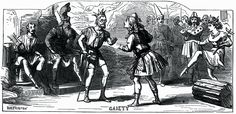 """D. H. Friston engraved illustration from the January 6, 1872 edition of The London Illustrated Newspaper depicting a scene from the original production of """"Thespis"""" at the Gaiety Theatre."""