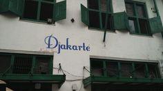 Sign of cafe. It use the symbol of Jakarta: Monas.