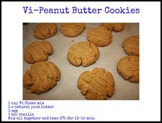 This is a healthier and low carb version of peanut butter cookies! Not to mention low sugar and gluten free! Low Carb Peanut Butter Cookies Makes 32 Cookies 1 egg 1 Healthy Peanut Butter Cookies, Low Carb Peanut Butter, Protein Cookies, Peanut Butter Recipes, Natural Peanut Butter, Healthy Desserts, Healthy Recipes, Protein Recipes, Healthy Food