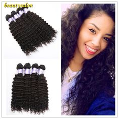 """Brazilian Hair Deep Wave 8""""-30' #1b 7A Unprocessed Natural Brazilian Hair Human Remy Hair Weave     #http://www.jennisonbeautysupply.com/    http://www.jennisonbeautysupply.com/products/brazilian-hair-deep-wave-8-30-1b-7a-unprocessed-natural-brazilian-hair-human-remy-hair-weave/,          Hair Material: 100% Virgin Human HairHair Weight: 100g/pcHair Length: 8''-30'' are in stock,other length can be customlizedHair Color: #1bHair Style:Deep WaveHair Quantity…"""