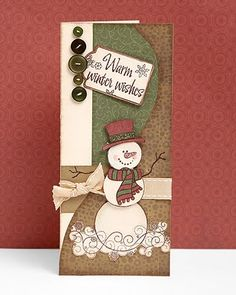 """""""Warm Winter Wishes"""" card idea from #CTMH."""