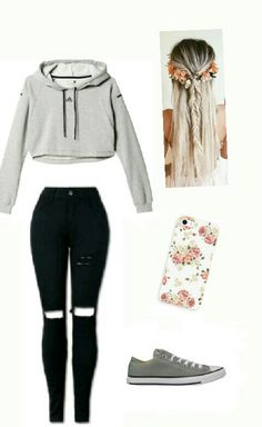 35 Attractive Fall Outfits for Teen Style - teen fashion Teenager Outfits, Teenager Mode, Teenage Girl Outfits, Cute Teen Outfits, Teen Fashion Outfits, Trendy Fashion, Womens Fashion, Fashion Clothes, Tween Fashion