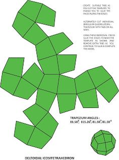 In my previous post on the duals of the Archimedean Solids , I had described 4 of the simplest Archimedean and Catalan solids along with th. Geometric Pattern Design, Geometric Shapes, Paper Folding Crafts, Paper Crafts, Tessellation Patterns, Brazilian Embroidery Stitches, Paper Box Template, Shape Templates, Spray Paint On Canvas