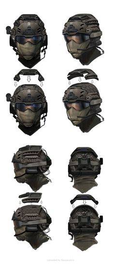 Call of Duty Black Ops 2 Military Gear, Military Weapons, Military Equipment, Military Soldier, Tactical Helmet, Airsoft Gear, Armadura Sci Fi, Futuristic Armour, Arte Cyberpunk