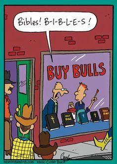 Funny Buy Bull Bible Shop