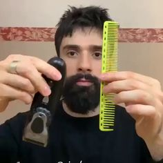The daily beard grooming routine 😱💈 Daily dose of men's grooming tips and all beard styles full, short or trimmed and ideas about beard growth tips and products ( beard styles shape modern black men bald bart beardo barbe hair men grooming hipster skaeg Natural Beard Growth, Beard Growth Tips, Beard Tips, Hair Growth, Beard Ideas, Beard Grooming Kits, Men's Grooming, Beard Styles For Men, Hair And Beard Styles