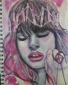 Meno Perfetta, 2015 by vanilla-riot on DeviantArt Correction Fluid, Follow Me On Instagram, Annie, Vanilla, My Arts, Deviantart, Ink, Fictional Characters, Fantasy Characters