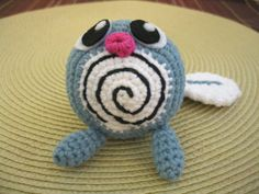 Crochet Amigurumi Poliwag Pokemon by GoldenAppleArts on Etsy