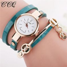 Fashion Women Leather Bracelet Watch