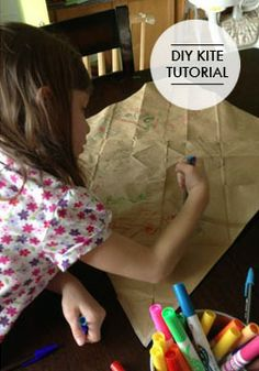 Make a movable masterpiece where your kids can let their creativity fly with this brown bag kite craft!