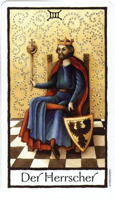 The Emperor from the Old English Tarot