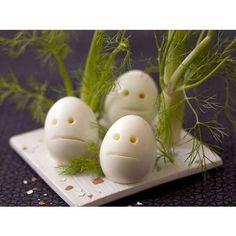 Œufs Casper de Halloween - Halloween : 14 recettes effrayantes et faciles repérées sur Pinterest - Elle à Table