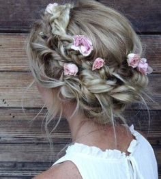 Braided Crown Updo Wedding Hairstyle