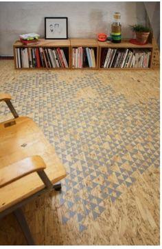 painted osb floor