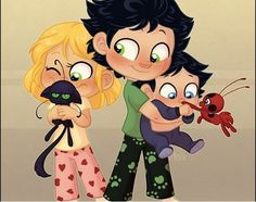 I piccoli Dupain-Agreste Ladybug Y Cat Noir, Meraculous Ladybug, Ladybug Comics, Miraculous Ladybug Cast, Miraculous Ladybug Wallpaper, Adrien X Marinette, Ladybugs Movie, Tikki Y Plagg, Kawaii Disney