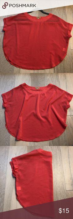 Urban outfitters sheer crop Sheer pink/salmon crop top. Loose fitting Urban Outfitters Tops Crop Tops