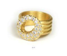 18KY Big Halo Ring. Approximately .55ct White Diamonds.  www.samanthalouisedesign.com  #ring #gold #diamonds