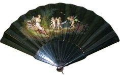 Antique Hand Painted Silk Fan.