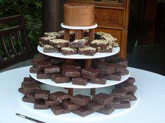 Brownie Wedding Cake. What a wonderful idea!  I LOVE CHOCOLATE