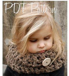 Crochet PATTERNThe Kerrington Cowl Child Adult by Thevelvetacorn, $5.50