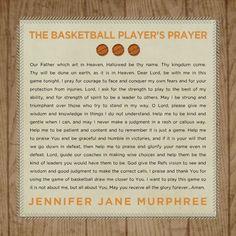 Basketball Player's Prayer by Roxanne Buchholz