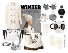 """Winter essentials"" by audrazili ❤ liked on Polyvore featuring Dr. Martens, Furla, David Yurman, Markus Lupfer, Windsmoor, Sass & Belle, MICHAEL Michael Kors, Master & Dynamic, 14th & Union and Adrienne Landau"