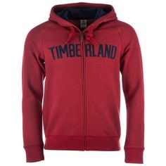 Timberland Burgundy Mens Brown River Zip Hoody via Polyvore featuring men's fashion, men's clothing and men's hoodies