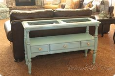 SOFA TABLE RE-DO {Furniture}  {www.ReMarkableHome.net}