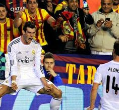 Gareth Bale won Real Madrid in the Copa del Rey final against Barcelona