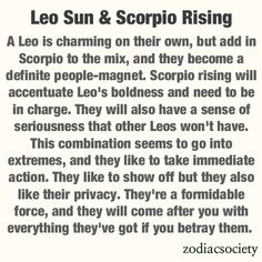 Andrew is a Scorpio and Maddie is a Leo--  Look out world!