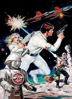 I've previously showcased a few of my favourite pop culture and vintage pulp artists, and each weekend I showcase art from more of my favourite artists. The art of Earl Norem. Arte Sci Fi, Sci Fi Art, Science Fiction Art, Pulp Fiction, Buck Rodgers, 80s Sci Fi, Space Opera, Movies And Series, Tv Series
