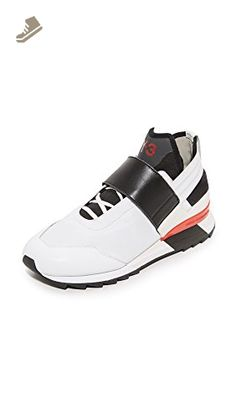 Y-3 Women's Y-3 Atira Sneakers, White/Black/Flame Scarlet, 4.5 UK - Adidas sneakers for women (*Amazon Partner-Link)