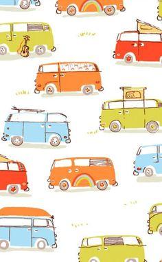 Heather Ross for munki munki - Camper Vans - cotton poplin fabric - 1 leg panel. $11.25, via Etsy.