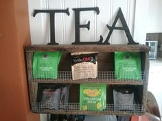 Jennifer, I can bring my little tea shelf for the coffee bar?
