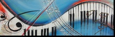 Musical Keyboard Canvas. Music to my ears.  40x1.2 $265 available in other sizes and colours
