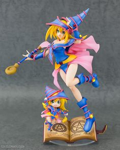 YU GI OH Duel Monsters Black Magician Girl With Chibi PVC Figure Hobby Japan | eBay