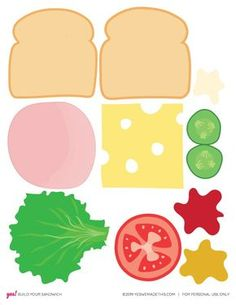 DIY Play Food Sandwich Printable - YES! we made this - Informations About DIY Play Food Sandwich Printable – YES! we made this Pin You can easily use my - Toddler Learning Activities, Preschool Activities, Diy Paper, Paper Crafts, Diy And Crafts, Crafts For Kids, Play Food, Dramatic Play, Paper Toys