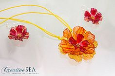 Recycled plastic flower set by seandreea on DeviantArt Plastic Flowers, Recycled Materials, Reuse, Recycling, Creative, Crafts, Deviantart, Accessories, Manualidades