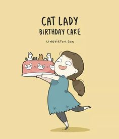 Cat Lady Birthday Cake